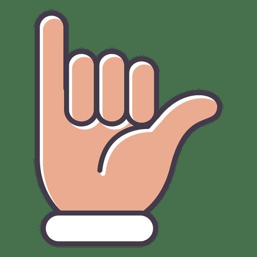 Navega hacia arriba gesto de la mano