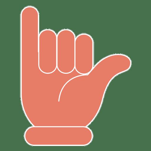 Gesture fingers hand