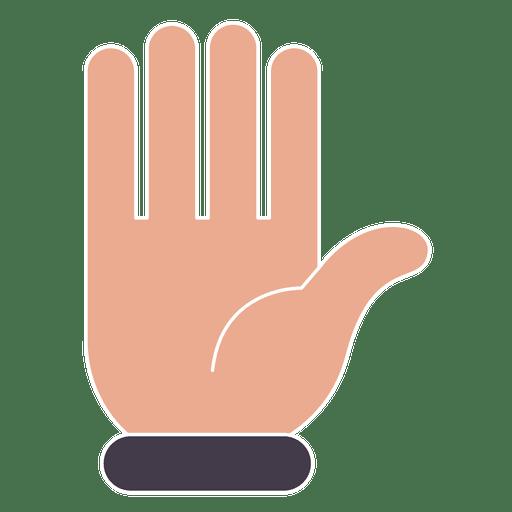 Hand hello gesture fingers