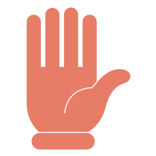 Hand hello gesture fingers thin stroke