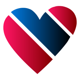 Heart logo blue and red