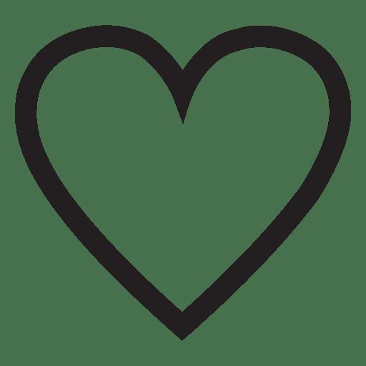 Logotipo del corazón trazo Transparent PNG