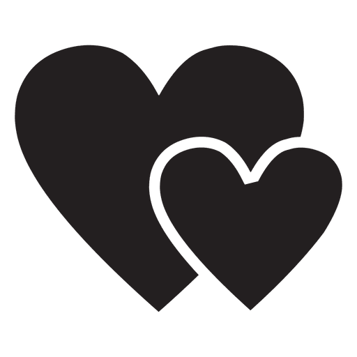 Logotipo del corazón con dos corazones Transparent PNG