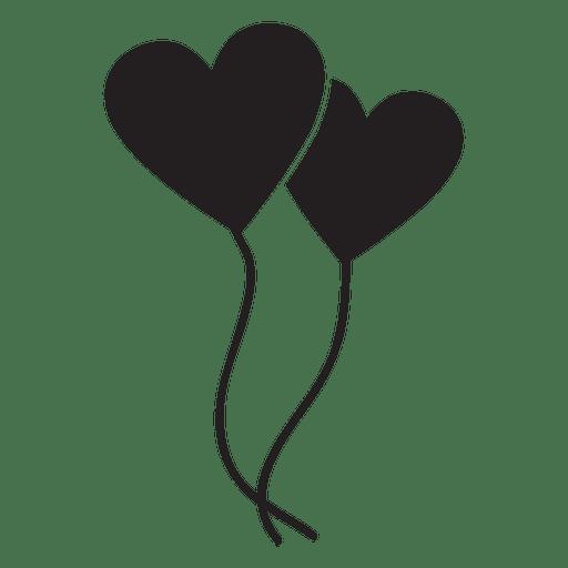Globo con logo de corazón