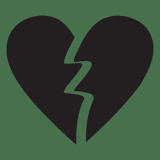 Heart logo broken heart