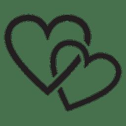 Casal de logotipo do coração
