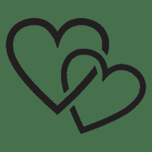 Pareja de logo de corazón Transparent PNG