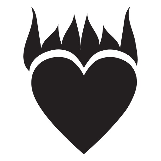 Heart logo flame Transparent PNG