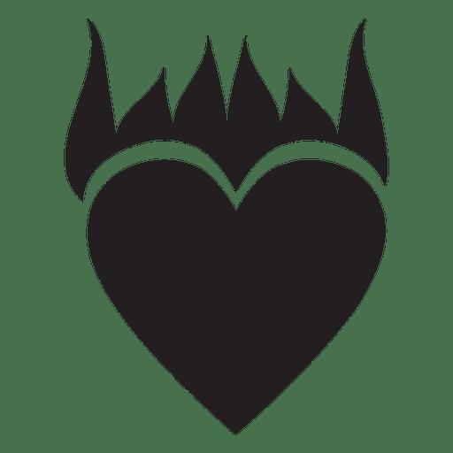 Heart logo flame