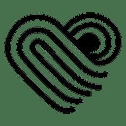 Heart logo folded