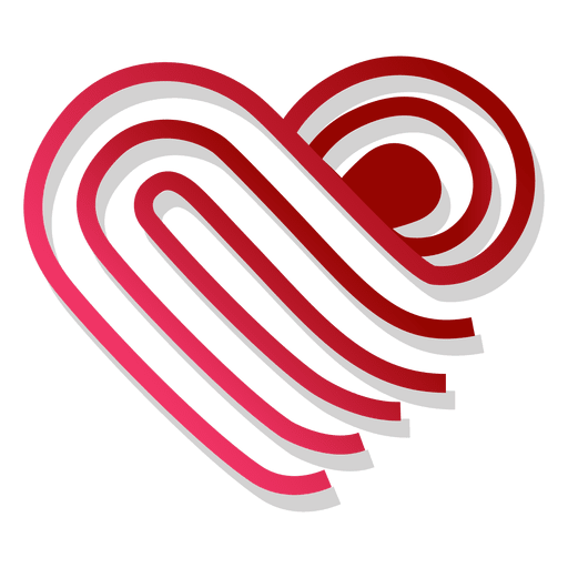 Heart logo template folded