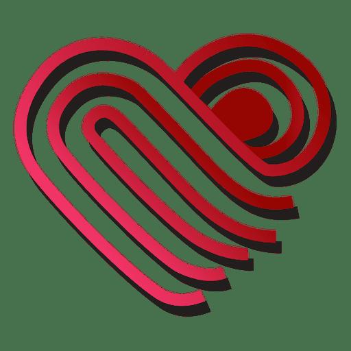 Plantilla de logotipo de corazón doblada Transparent PNG