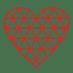Grade de logotipo de coração