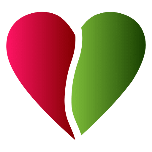 Heart Logo Half Red And Green Color Transparent Png Svg Vector