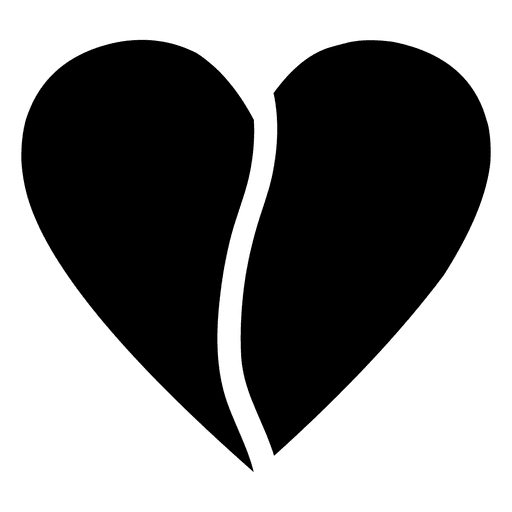 Heart logo half Transparent PNG