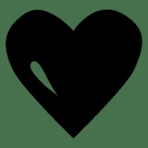 Plantilla de logotipo de corazón negro Transparent PNG