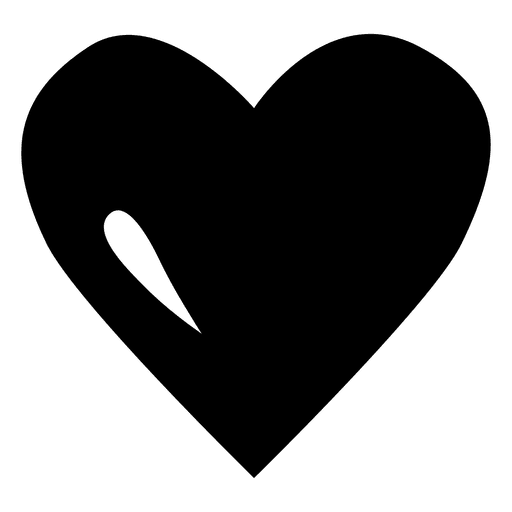 Plantilla de logotipo de corazón negro