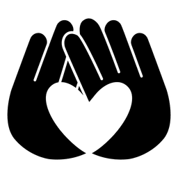 Heart logo hands