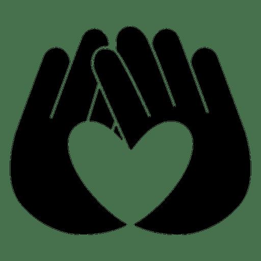 Mãos de logotipo do coração Transparent PNG