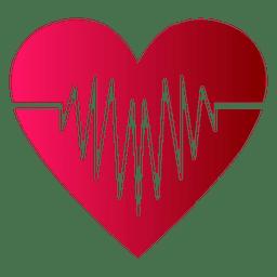 Logotipo del corazón con latido del corazón