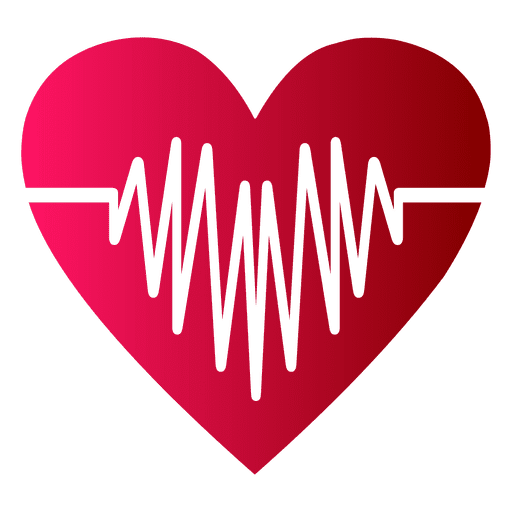 Heart logo with heart beat - Transparent PNG & SVG vector