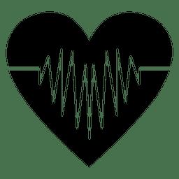 Batida de coração de logotipo de coração