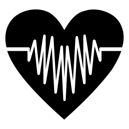 Heartbeat Png Transparent Black: Transparent PNG & SVG Vector