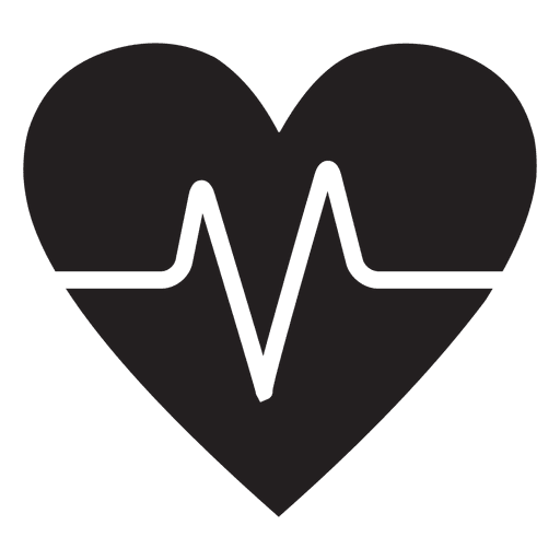 Heart logo template with heart beat
