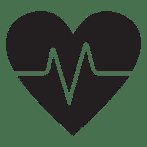 Plantilla de logotipo de corazón con latido Transparent PNG
