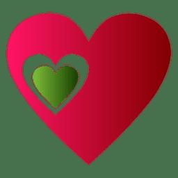 Coração, logotipo, ícone