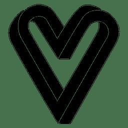 Heart logo infinite infinity