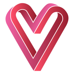 Red heart logo infinite infinity