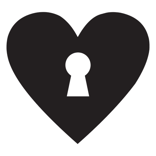 Heart logo key Transparent PNG