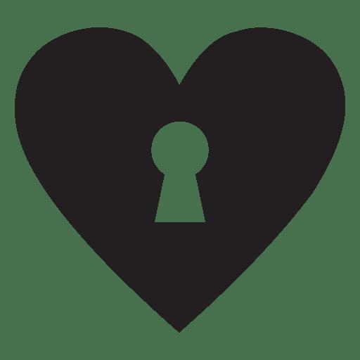 Llave del logo del corazón