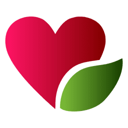 Heart and leaf logo