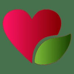 Heart logo leaf