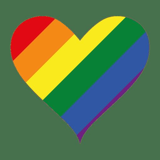 Logo del corazón lgbt Transparent PNG