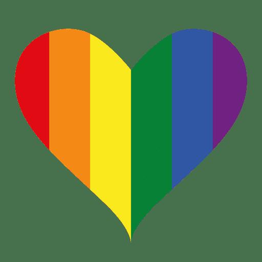 Diseño lgbt con logo de corazón Transparent PNG