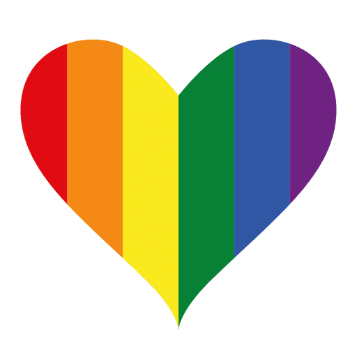 Heart logo lgbt design
