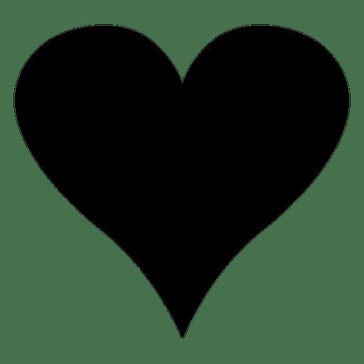 Minimalismo del logo del corazón negro