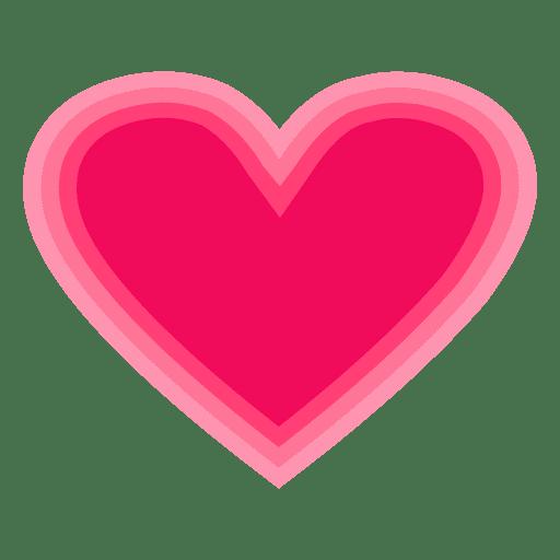 Logo corazon rosa a rayas Transparent PNG
