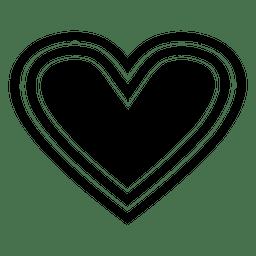 Logotipo do coração listrado
