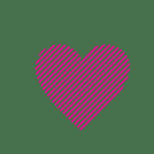Heart logo template striped