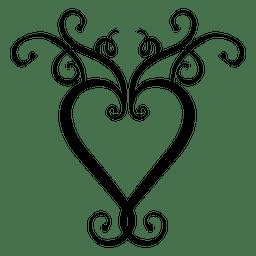 Redemoinhos de logotipo de coração