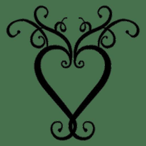 Heart Logo Swirls Transparent PNG amp SVG Vector
