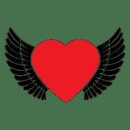 Asas do logotipo do coração
