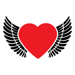 Heart logo wings