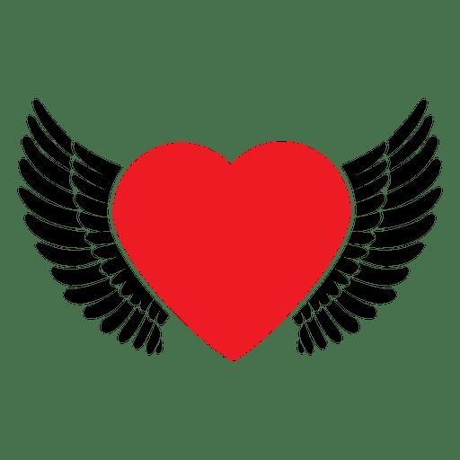 Heart logo wings