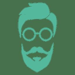 Barba de hombre verde inconformista