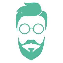 Barba de homem hipster verde
